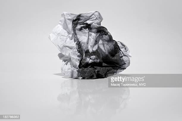 crumpled photo with portrait of osama bin laden - osama bin laden stock pictures, royalty-free photos & images