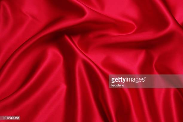 Crumpled red satin texture background