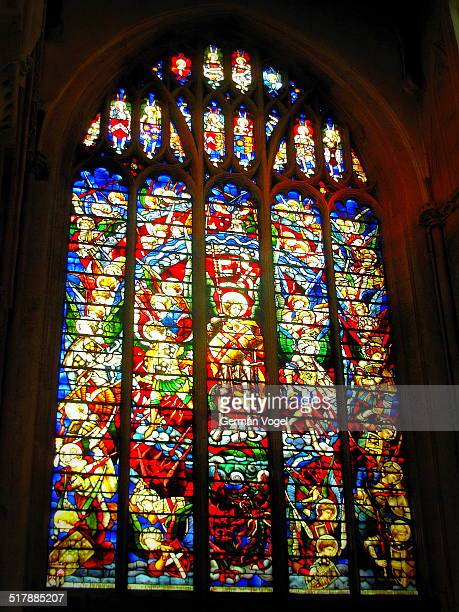 crusader church stained glass window in oxford - vogel stock pictures, royalty-free photos & images