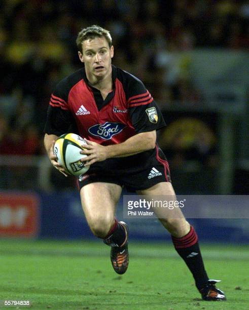 Crusaders Andrew Mehrtens in action against the Hurricanes in their Super 12 rugby match at Jade Stadium Saturday