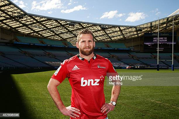 Crusaders captain Kieran Read poses during the Super Rugby media opportunity at ANZ Stadium on August 1, 2014 ahead of the Grand Final match tomorrow...