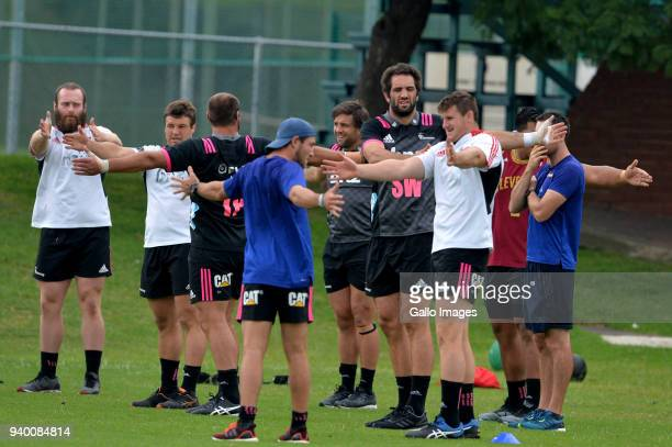 Crusaders players during the Crusaders Training Session at Fourways High School on March 30 2018 in Johannesburg South Africa