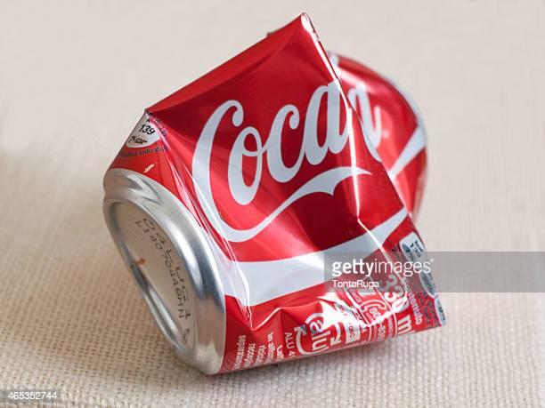 Crushed Aluminium Coca-Cola