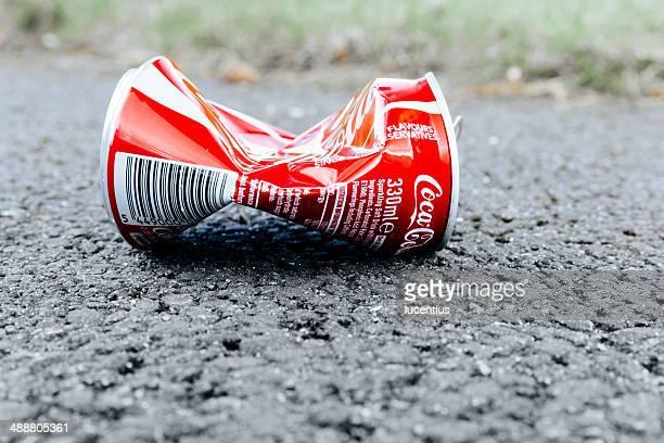 Crushed Coke can discard