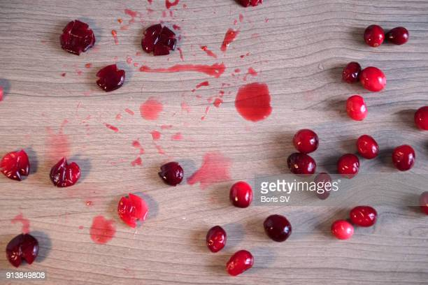 crushed cranberries - cranberry sauce stock photos and pictures
