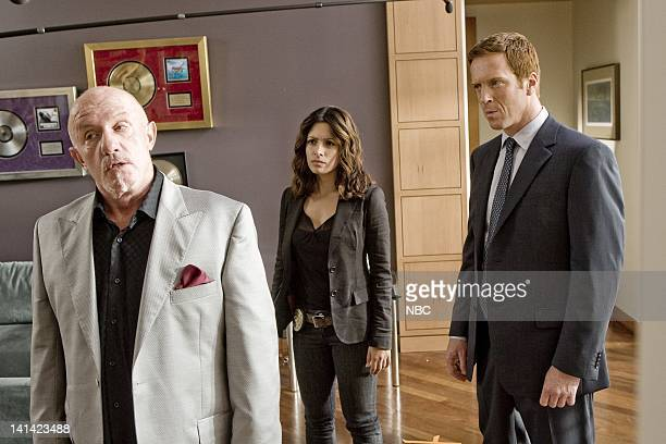 LIFE Crushed Episode 5 Aired Pictured Jonathan Banks as Nathan Gray Sarah Shahi as Dani Reese Damian Lewis as Charlie Crews Photo by Paul...