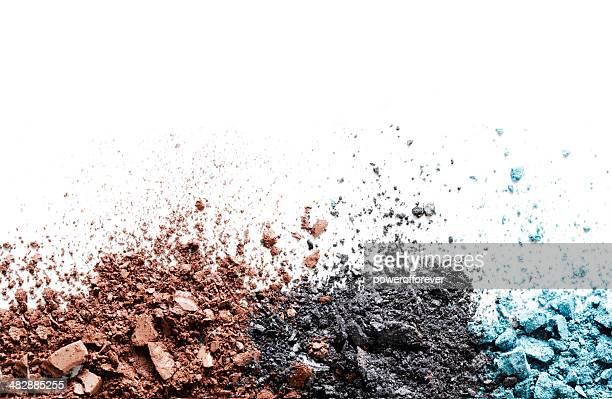 crushed eyeshadow - eyeshadow stock pictures, royalty-free photos & images
