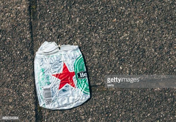 Crushed Heineken Beer Can
