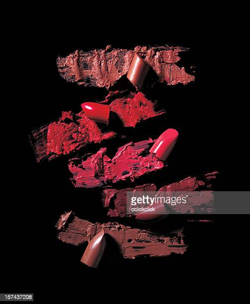 crushed lipsticks - lipstick stock pictures, royalty-free photos & images
