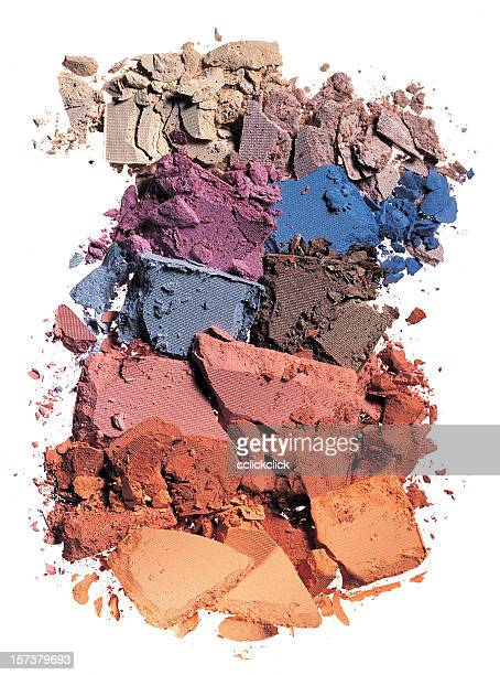 crushed makeup of various colors - eyeshadow stock pictures, royalty-free photos & images