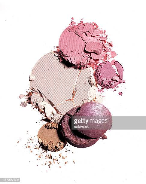 crushed makeup - make up stockfoto's en -beelden