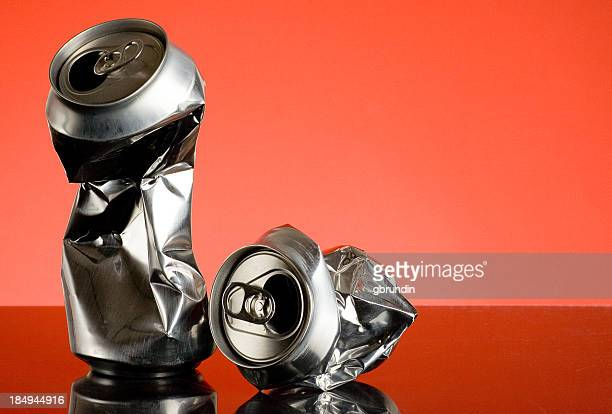 crushed - tin can stock pictures, royalty-free photos & images