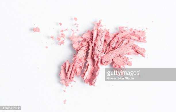 crushed pink eyeshadow - eyeshadow stock pictures, royalty-free photos & images