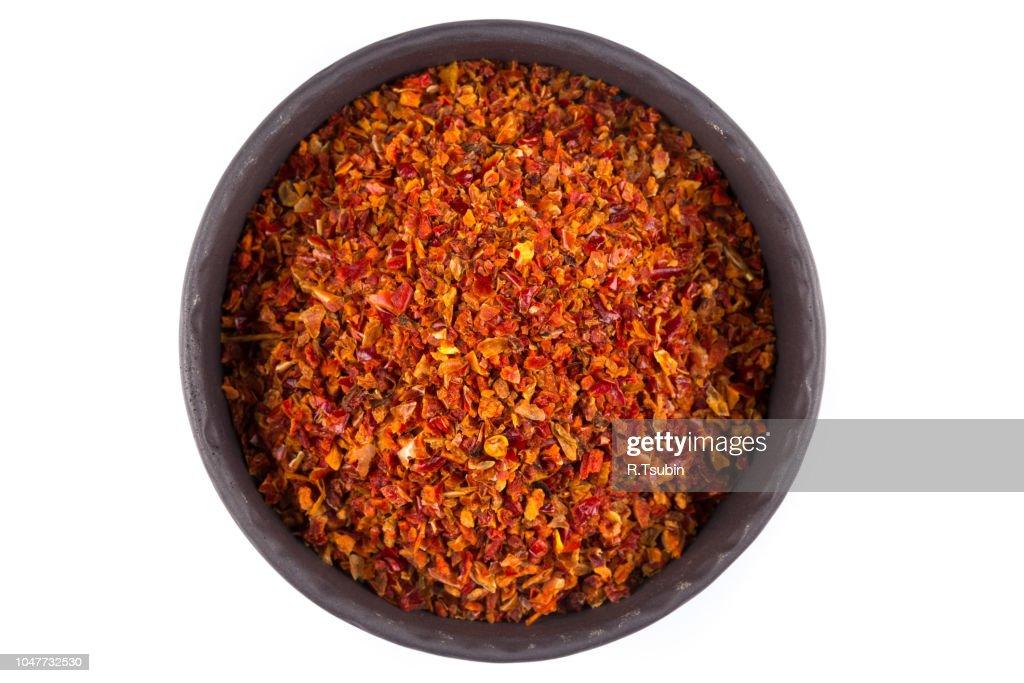Crushed red chili pepper : Foto de stock