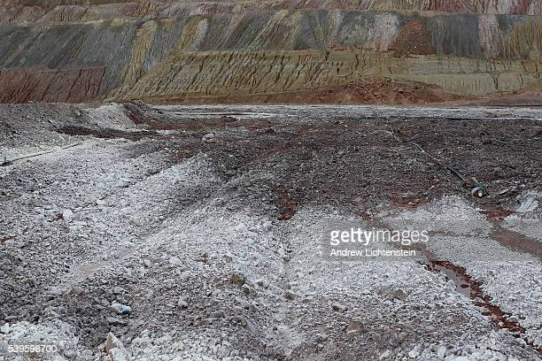 Crushed rocks soaked with sulfuric acid in large leach fields is a common way to extract copper form the mine The small mining communities of Kearny...