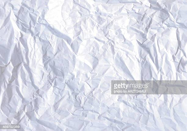 Crushed white paper