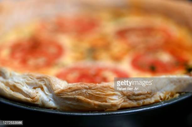 crust of a vegan egg quiche - rafael ben ari bildbanksfoton och bilder