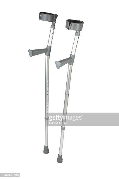 Crutches on a white background