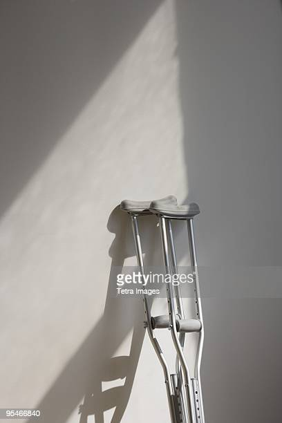 crutches - crutch stock photos and pictures