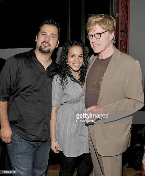 Cruz Angeles, Gleendilys Inoa and Robert Redford attend the opening night of BAMcinemaFEST at the Howard Gilman Opera House on June 17, 2009 in New...