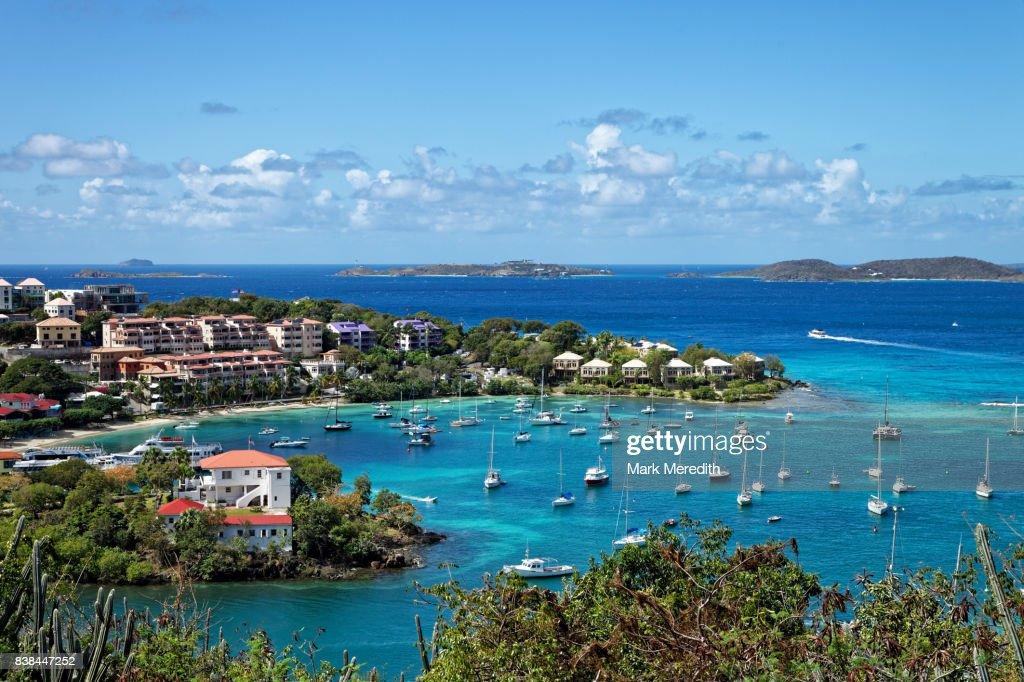 Cruz Bay in St John, US Virgin Islands : Stock Photo