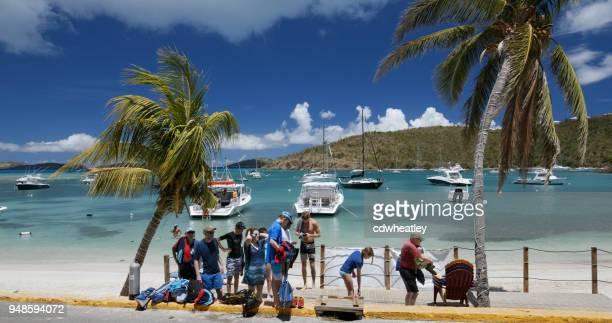 Cruz Bay, St John, Divers coming back from trip