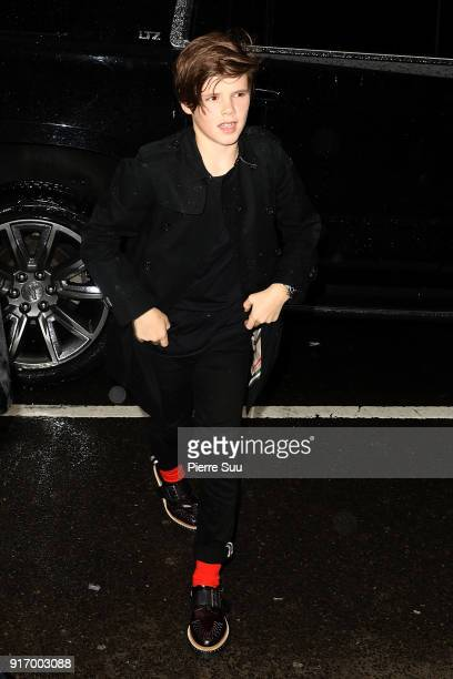 Cruz Beckham arrives at Balthazar restaurant on February 11 2018 in New York City