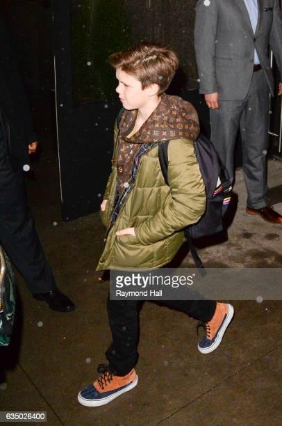 Cruz Beckham is seen is seen walking in Soho on February 12 2017 in New York City