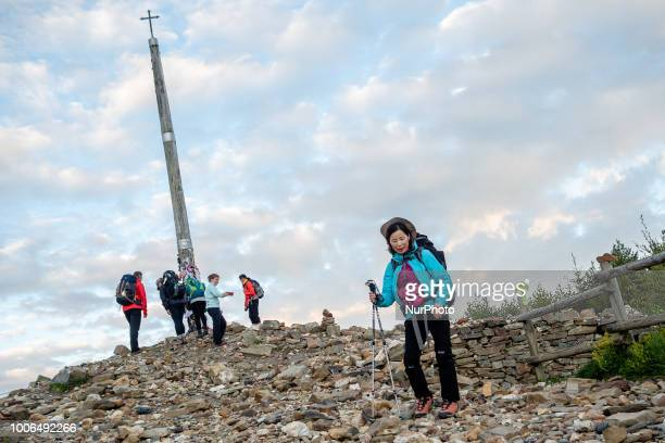 Cruz de Ferro is a cross on the Camino de Santiago The tradition is to throw a stone brought from the place of origin of the pilgrim with his or her...