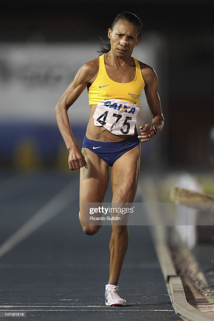 Cruz Nonata da Silva, from Brazil, competes in the 5000 Meters Final event during the third day of the Trofeu Brazil/Caixa 2012 Track and Field Championship, with New competition record (15'36''57) at êcaro de Castro Mello Stadium on June 29, 2012 in Ibirapuera, Sao Paulo, Brazil.