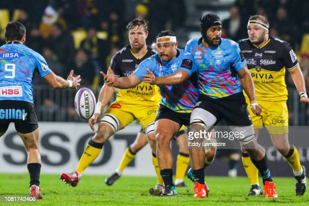 Cruze Ah Nau of Parme during the European Challenge Cup match between La Rochelle and Zebre at Stade Marcel Deflandre on January 11 2019 in La...