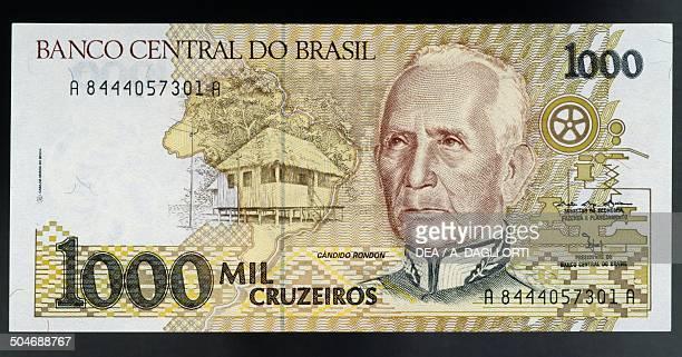 1000 Cruzeiros Banknote Obverse Candido Mariano Da Silva Rondon Brazil 20th Century