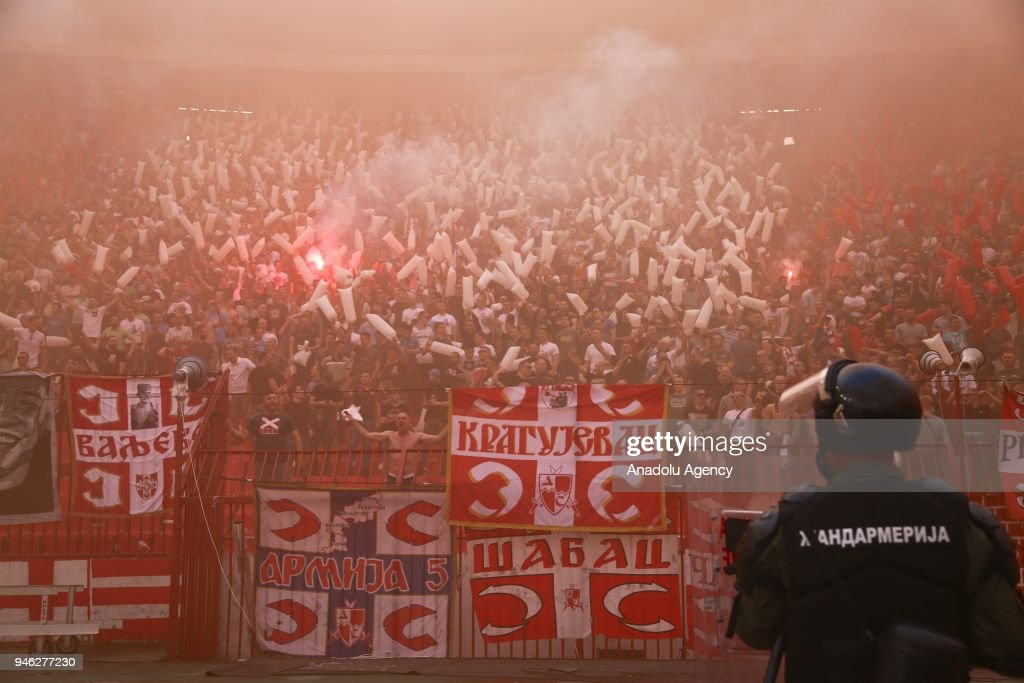FK Crvena Zvezda v FK Partizan - Serbian Super League Play Off match : News Photo