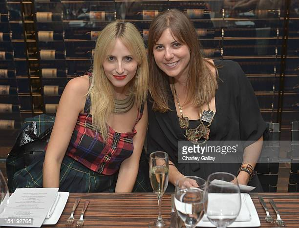 Crybaby Presents' Dakota Folt and Korovilas' Maria Korovilas attend GenArt's 14th Annual Fresh Faces In Fashion Intimate Dinner at Andaz on October...