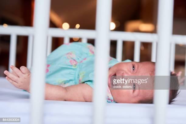crying baby girl portrait