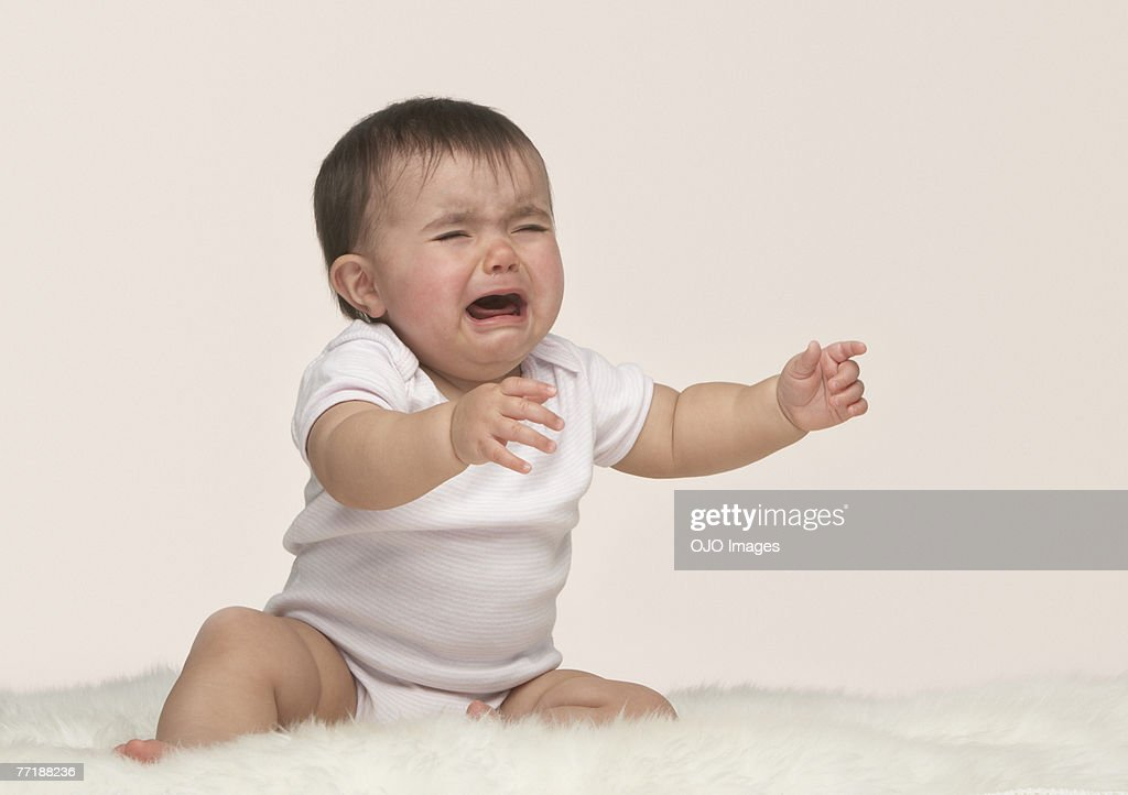 A crying baby : Stock Photo