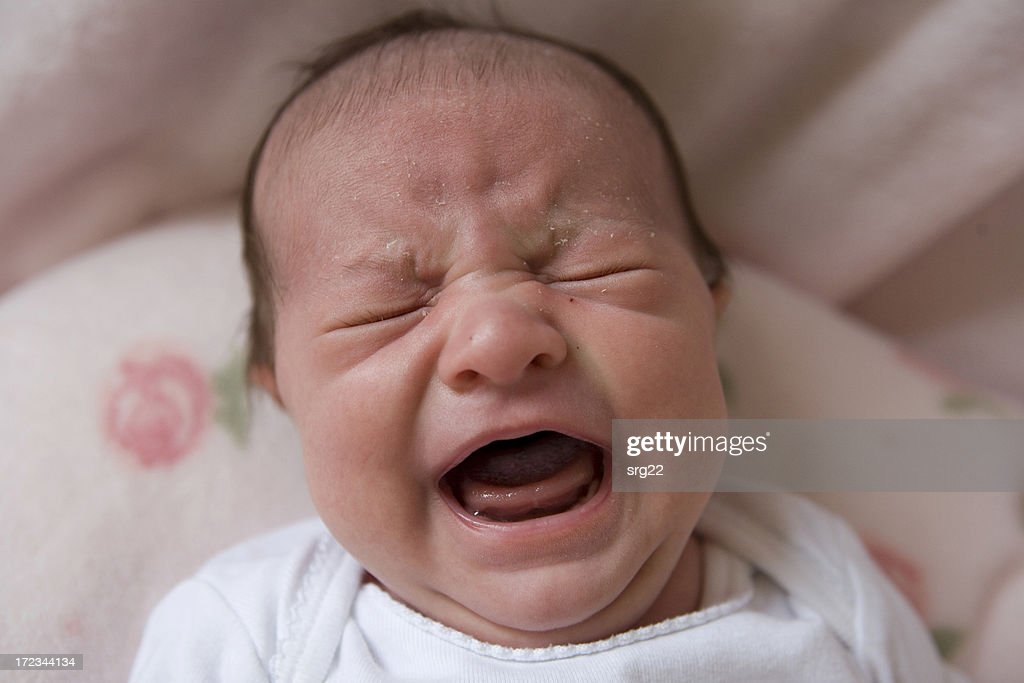 Crying Newborn : Stock Photo
