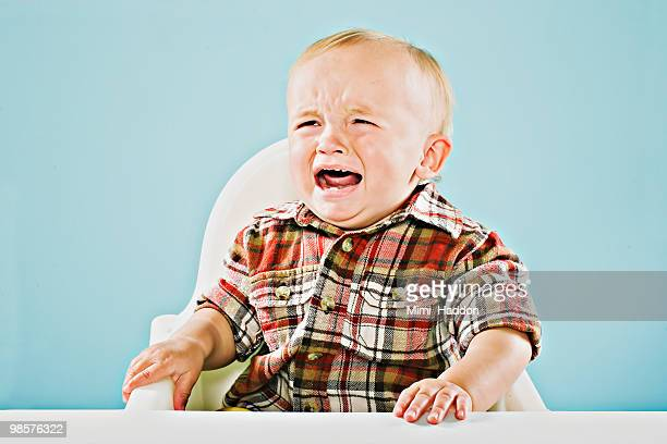 crying one year old baby boy - shouting stock photos and pictures