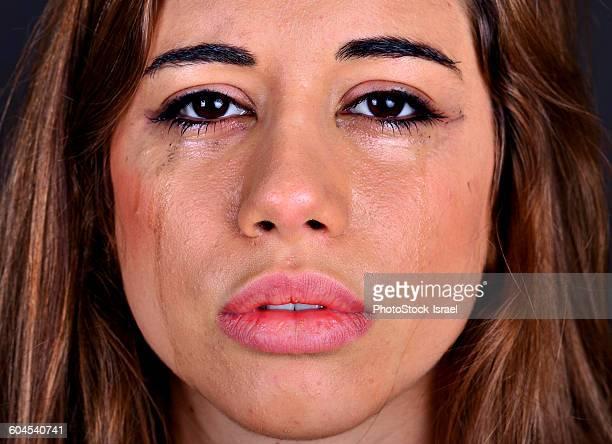 Crying teen