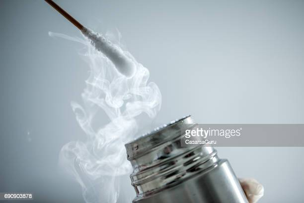 Cryotherapy using Cotton Swab and Liquid Nitrogen