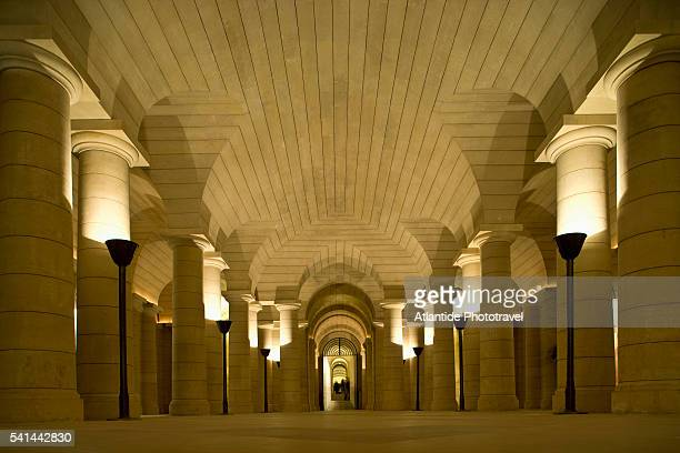 crypt in the pantheon in paris - crypt stock photos and pictures