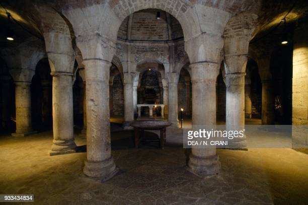 Crypt known as the Rotunda of St Benignus Cathedral Dijon Burgundy France 13th14th century