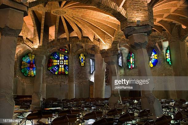 crypt of antoni gaudi - crypt stock photos and pictures