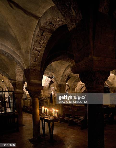 Crypt of the Basilica of San Nicola di Bari Apulia Italy 11th century