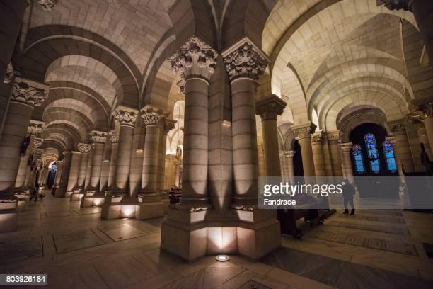 crypt of the cathedral of almudena, madrid. - アルムデナ大聖堂 ストックフォトと画像