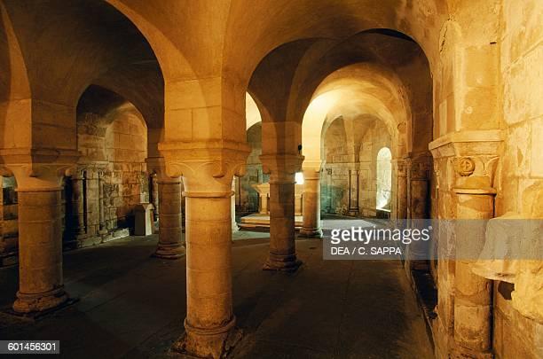 Crypt of the church of NotreDame de FontenayleComte France 11th century