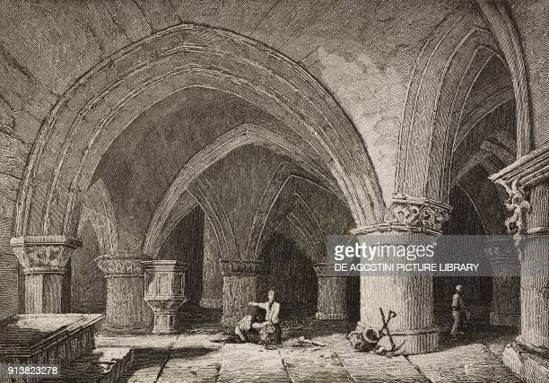Crypt of the Glasgow Cathedral Scotland United Kingdom engraving by Skelton from Angleterre Ecosse et Irlande Volume IV by Leon Galibert and Clement...