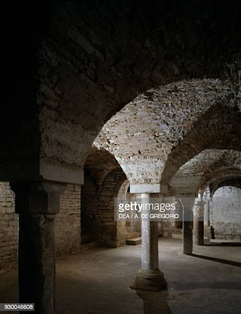 Crypt or church of St Peter Church of St Mary of the Assumption Andria Cathedral Puglia Italy 11th19th century
