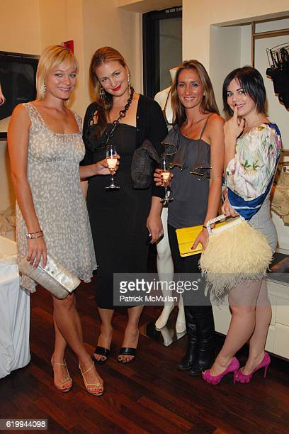 Crystal Allen Jenny Chase April Jubela and Megan Feely attend LA PERLA CELEBRATES FALL 2008 COLLECTION at Rodeo Drive on October 22 2008 in Beverly...