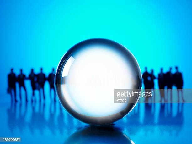 crystal ball and buisness prediction - possible stock pictures, royalty-free photos & images